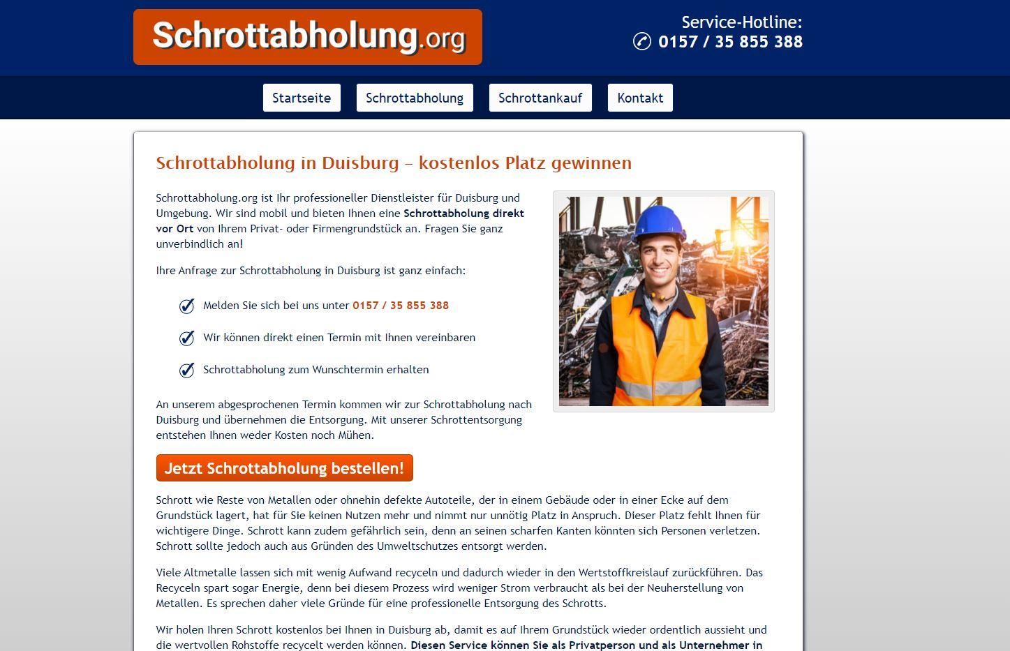 Mit Schrottabholung in Duisburg Metall dem Recycling zuführen