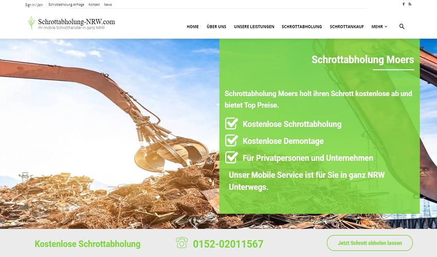 Schrottabholung-NRW bietet Schrotthändler in der Umgebung von Moers mit schnellste und Beste Service