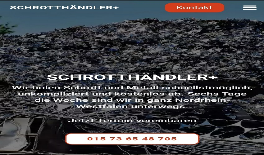 Der Schrotthändler Rheine unkomplizierten Service, bei dem Sie am Ende noch Geld erhalten