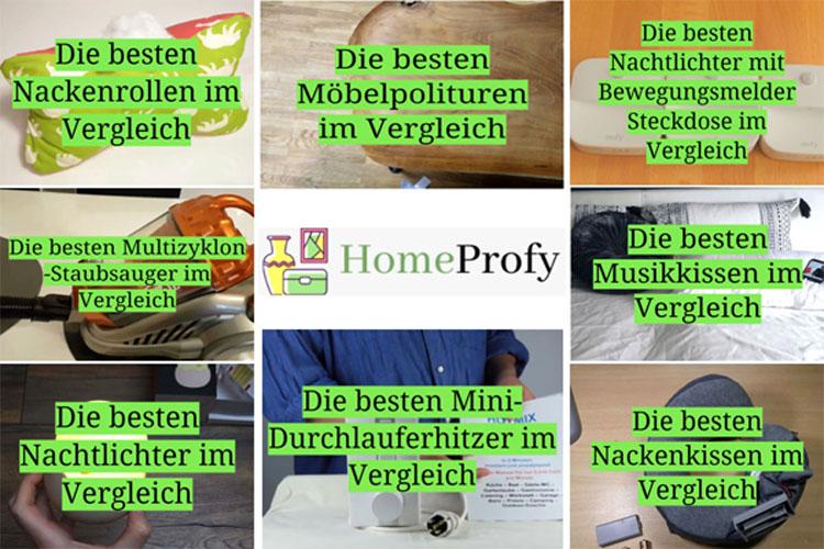 HomeProfy - Neue Produktbewertungsseite für Zuhause