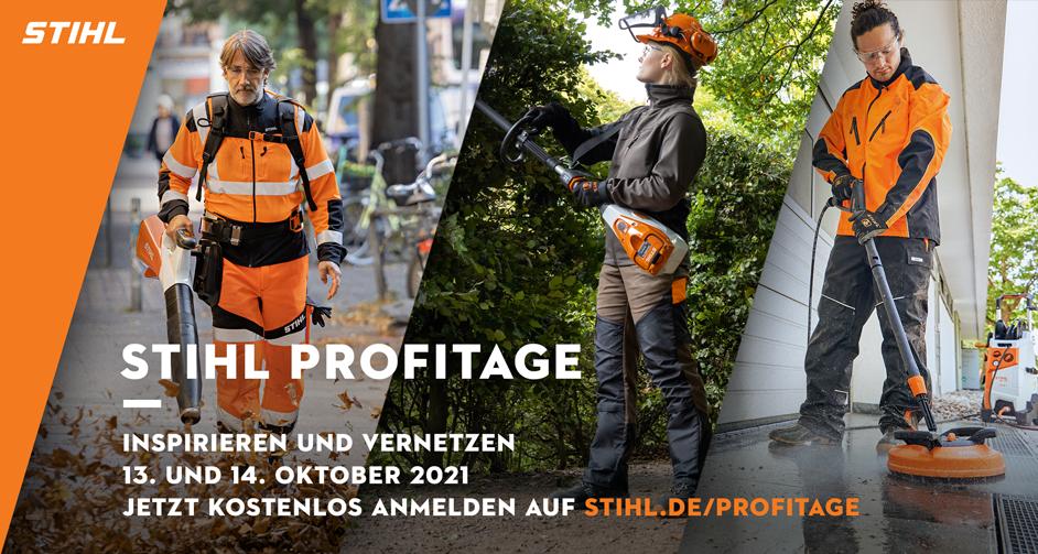 Online und kostenlos: Am 13. und 14. Oktober finden die ersten STIHL Profitage statt