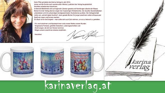 Der Karina-Verlag hat mehr als nur Bücher im Angebot
