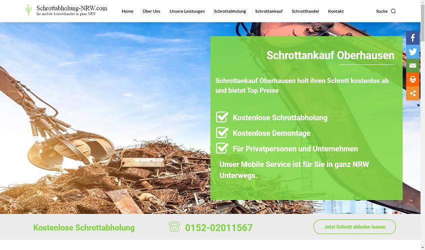 Schrottankauf in Oberhausen kompetent und zuverlässig