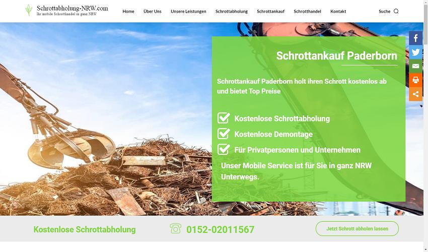 Schrottankauf in Paderborn kompetent und zuverlässig
