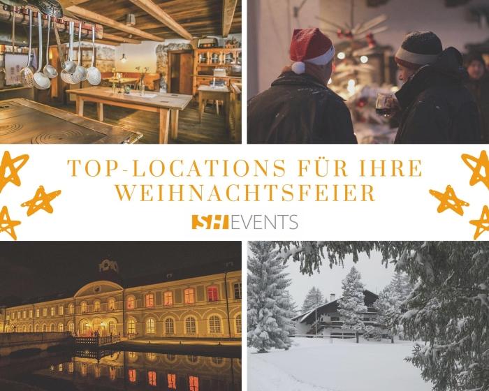 Klassische Weihnachtsfeier in einer unserer Top-Eventlocations: Schloss, Berg- und Bauernhaus und Hütte in den Bergen
